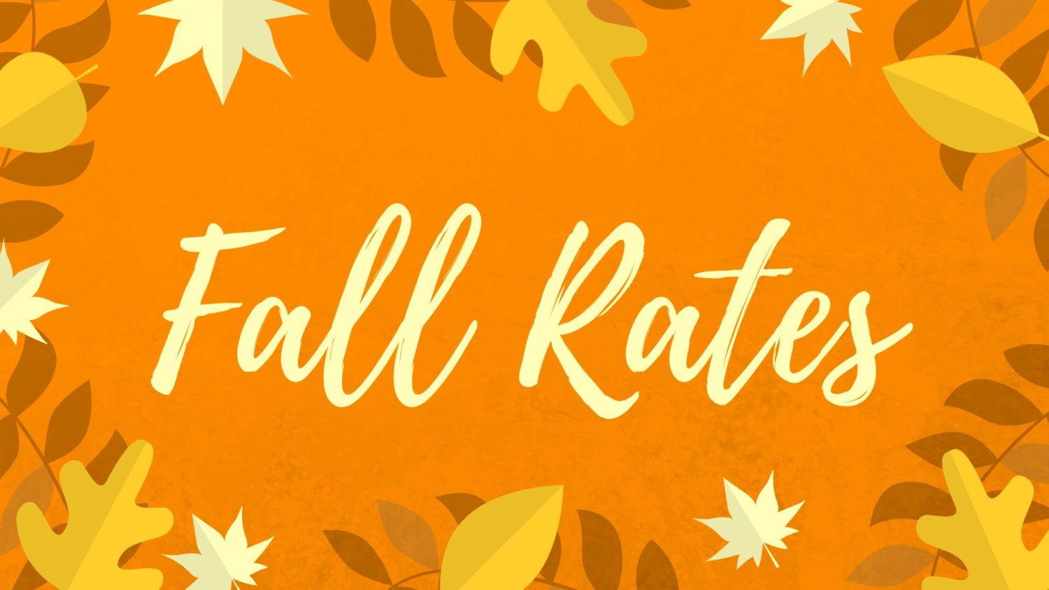 Check out our new Fall rates!